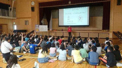おなか元気教室を開催しました!八王子市立由木中央小学校